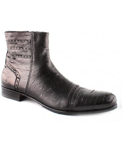 Кожаные ботинки осенние черные Giovanni Ciccioli