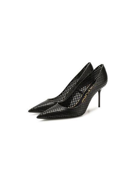 Кожаные туфли с подкладкой металлические Tom Ford