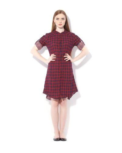 Хлопковое платье - бордовое Nolita