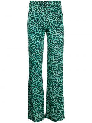 Расклешенные зеленые брюки на молнии Laneus