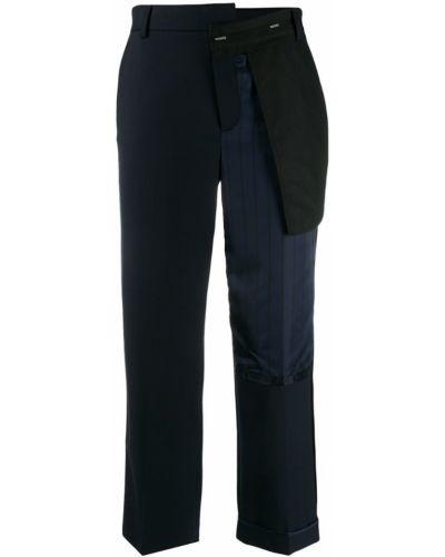 Укороченные брюки стрейч с лампасами Monse