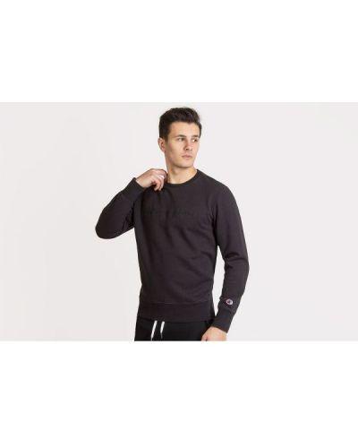 Czarna bluza z długimi rękawami bawełniana Champion
