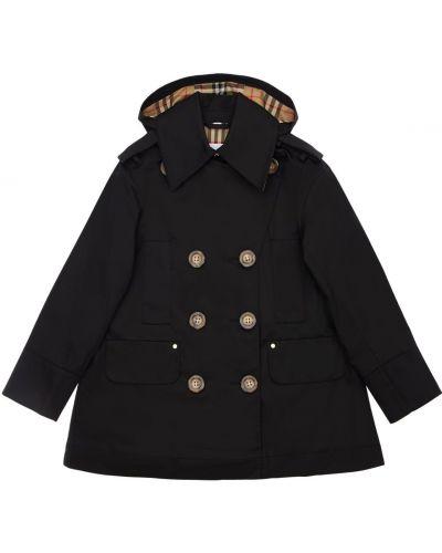 Bawełna bawełna płaszcz z kieszeniami z kołnierzem Burberry
