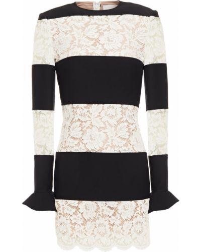 Кружевное платье мини - черное Valentino