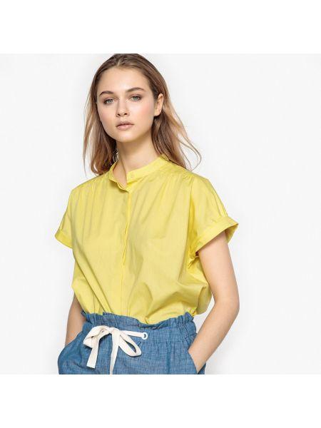 Рубашка с коротким рукавом прямая хлопковая La Redoute Collections