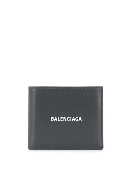 Srebro portfel na monety z kieszeniami z gniazdem z prawdziwej skóry Balenciaga