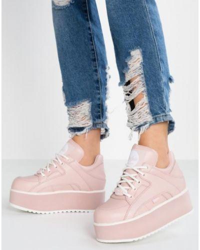 Кожаные кроссовки - розовые Buffalo