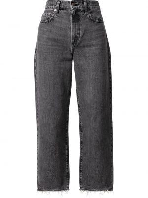 Хлопковые серые джинсы классические Nobody Denim