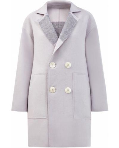Серое шерстяное пальто двустороннее Lorena Antoniazzi