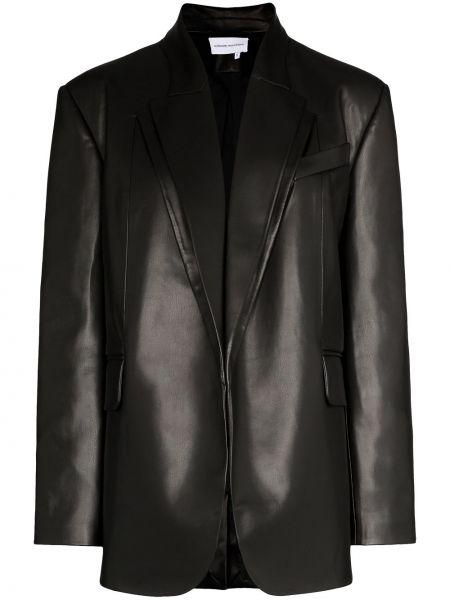 Черный удлиненный пиджак с карманами Aleksandre Akhalkatsishvili