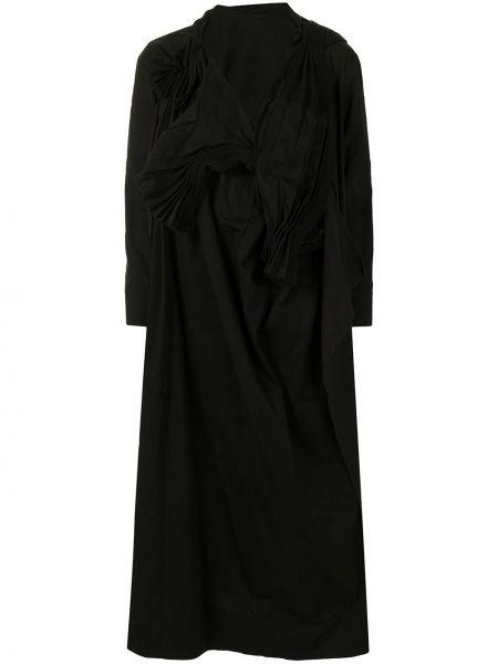 Платье макси длинное - черное Yohji Yamamoto