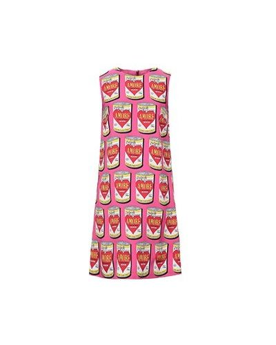 Повседневное розовое платье Dolce&gabbana
