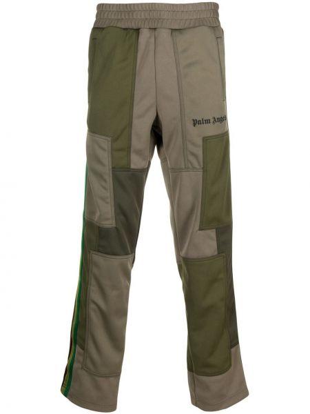 Zielone spodnie z printem Palm Angels