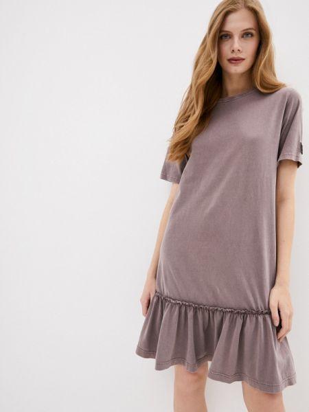 Китайское купальник-платье коричневое платье осеннее Sela