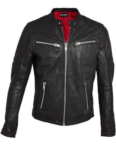 Czarna kurtka skórzana Rockandblue