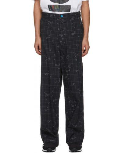 Хлопковые черные брюки с карманами Undercover