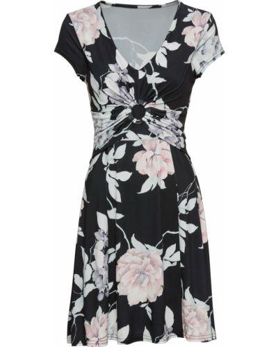 Приталенное драповое летнее платье Bonprix
