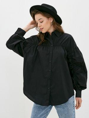 Черная рубашка с длинными рукавами B.style