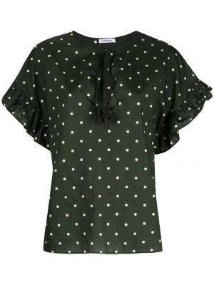 Блузка с короткими рукавами в горошек со вставками P.a.r.o.s.h.