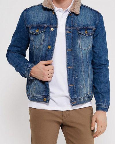 Джинсовая куртка осенняя синяя Colin's
