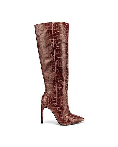 Ботинки на каблуке из крокодила из искусственной кожи Raye