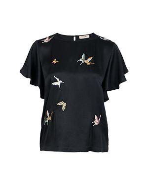 Блузка черная Twinset