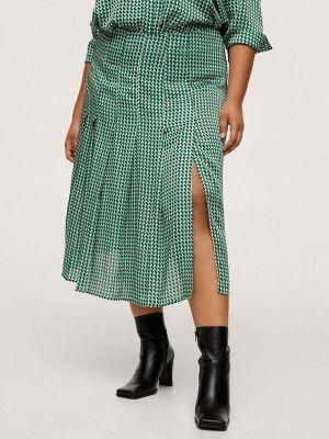 Зеленая турецкая юбка Violeta By Mango