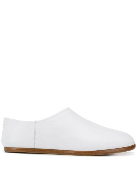 Кожаные белые слиперы без застежки Maison Margiela