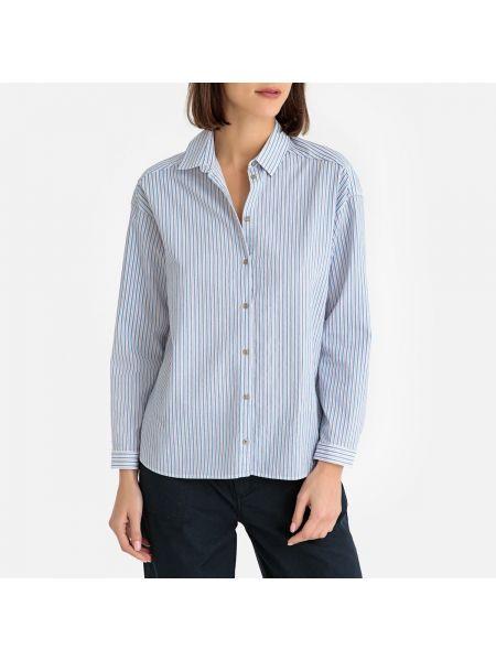 Синяя блузка с длинным рукавом с воротником свободного кроя с вырезом Harris Wilson