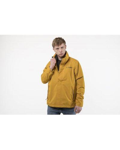 Kurtka przeciwdeszczowa z kapturem - żółta Adidas