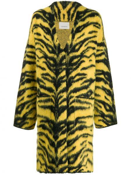 Желтое шерстяное длинное пальто Laneus