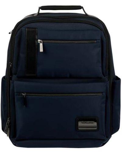 Niebieski plecak na laptopa z nylonu Samsonite