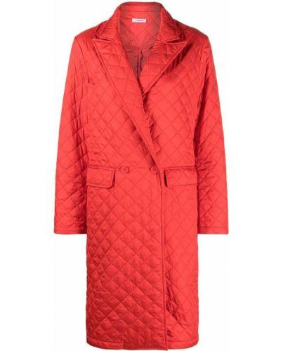 Красное стеганое длинное пальто на пуговицах P.a.r.o.s.h.