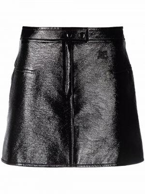 Czarna spódnica bawełniana Courreges