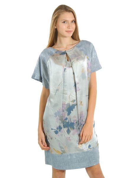 Шелковое платье - серое Cerruti 18crr81