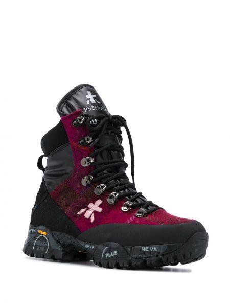 Кожаные ботинки трекинговые - розовые Premiata