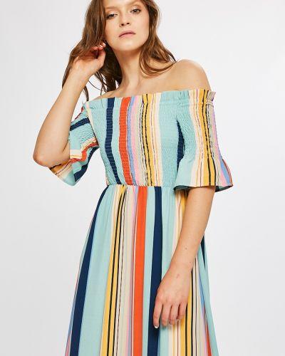 Платье макси с рукавами в полоску Answear