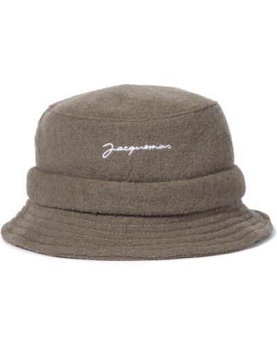 Brązowy wełniany kapelusz Jacquemus