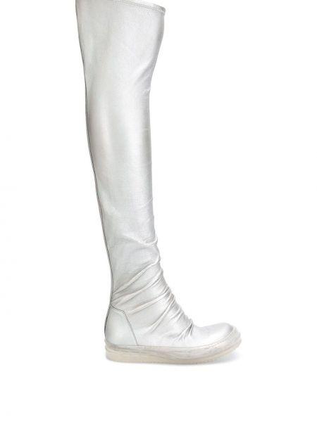 Białe pończochy skorzane Rick Owens