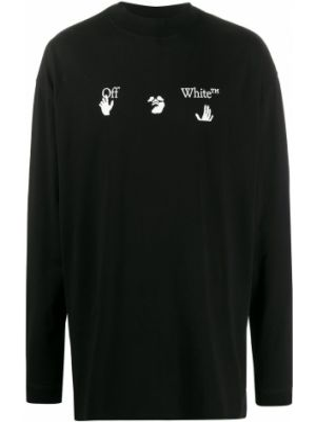 Koszula z długim rękawem z logo długa Off-white