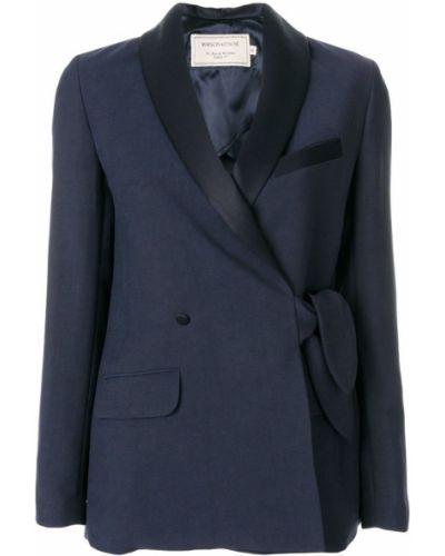 Синий удлиненный пиджак Maison Kitsuné