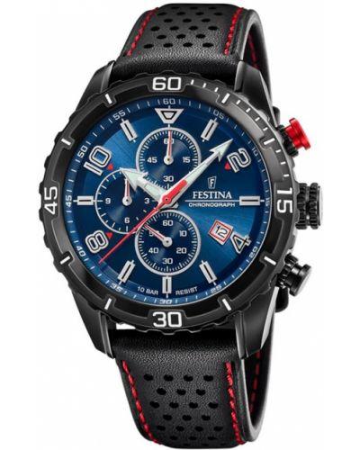 Czarny zegarek sportowy Festina