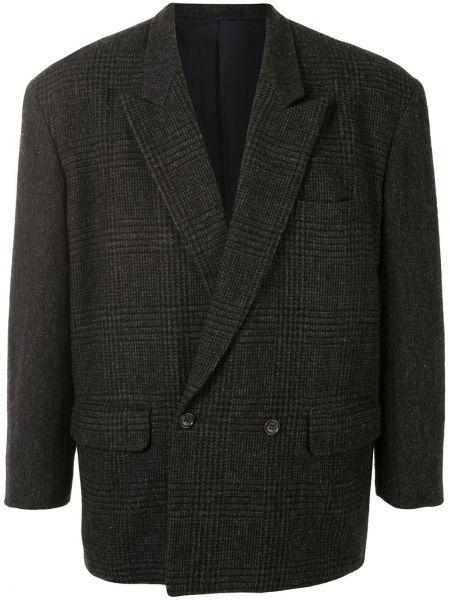 Шерстяной прямой пиджак на пуговицах с карманами Comme Des Garçons Pre-owned