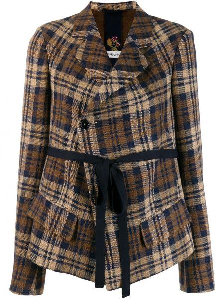 Klasyczna brązowa kurtka wełniana High By Claire Campbell