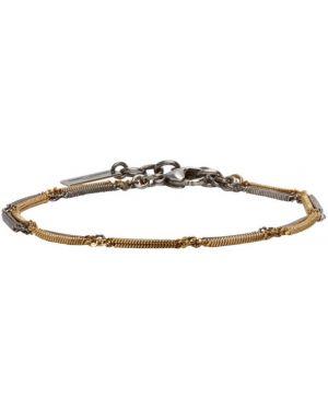 Ожерелье серебряный золотой Saint Laurent