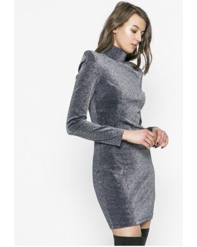 Платье мини с длинными рукавами с поясом облегающее Guess Jeans