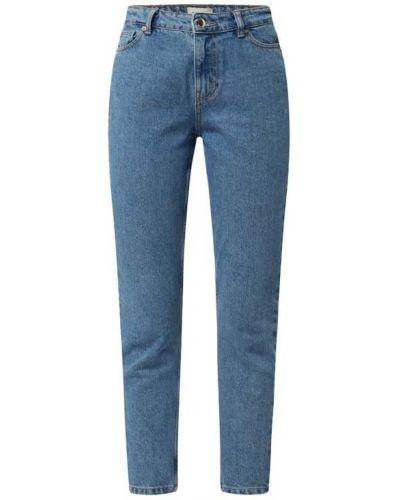 Niebieskie mom jeans bawełniane Only