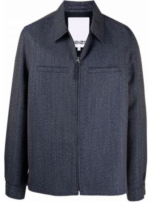 Синяя хлопковая куртка Kenzo