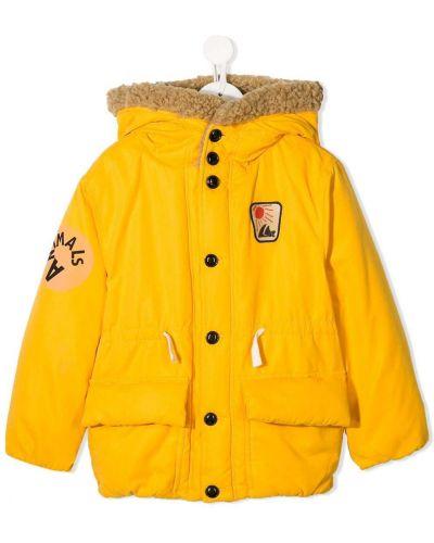 Желтое длинное пальто с вышивкой The Animals Observatory