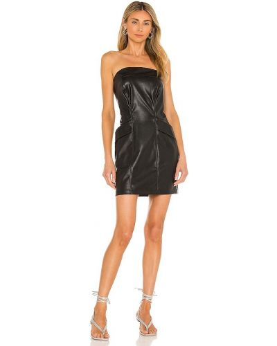 Черное кожаное платье Kendall + Kylie